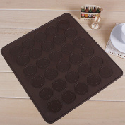 CY-buity 30-Cavity Silicone Pastry Cake Macaron Macaroon Oven Baking Mould Sheet Mat