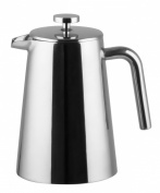 Bruntmor, KRAGLER 8 Cup (1010ml) Double Wall 18/8 Stainless Steel French Coffee Press with No Drip Spout & Double Filter Screens