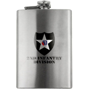 Army 2nd Infantry Division Full Colour 240ml Flask