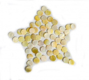 Yellow Abalone Inlay Material Dots 12mm 30pcs, for Guitar, Ukulele, Mandolin, Banjo Fretboard Mark Point