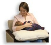 Natural Organic Cotton Nursing Pillow - 60cm x 41cm x 6""