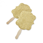 Kate Aspen Gold Glitter Hand Fan