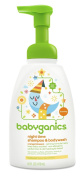 Babyganics Baby Shampoo + Body Wash, Orange Blossom, 470ml Pump Bottle