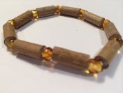 Hazelwood Baltic Amber Bracelet 20cm Brown Honey Yellow for adult, big kid, boy, girl, for Gut issues; Eczema, Colic, Reflux, GERD, heartburn, and ulcers. 100% Satisfaction Guaranteed. 20cm Hazel wood