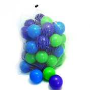 50 Plastic Soft Air-filled Pit Balls for Ball Pits, Baby Playpen, Pack 'N Play