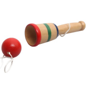 Chilren Educational Troditional Games Toy Wooden Street Cool Skill . Kendama Cup & Ball
