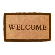 Simply...Welcome Hand Made Extra Thick Coconut Fibre Doormat 46cm x 80cm