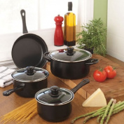 Gibson Home 83681.07 Cuisine Select Chef Du Jour 7-Piece Cookware Set, Black