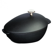 Staub 2l Mussel Pot with Stainless Steel Knob, Black Matte