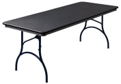 MityLite RT3072BLK1 ABS Table, Rectangle, 80cm x 180cm , Black