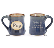 Pop Best Job Ever Porcelain Navy Blue Coffee Tea Mug Cup 530ml Gift Box