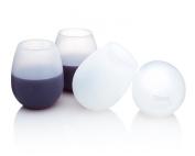 Jökel Unbreakable Stemless Silicone Wine Glasses 350ml Set of 4 Premium Quality Shatterproof Glasses