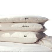 Lifekind Organic Pure Wool Pillow - Light Loft (Standard) - Perfect for Kids