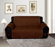 Bednlinens Brown Quilted Micro Suede Pet Dog Furniture Sofa Cover Protector Throw