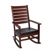 Gift Mark 4000C Mission style Adult Rocking chair with Upholstered Seat