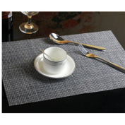 KAKA(TM) High Quality Deluxe Rectangle PVC Insulation Anti-skidding Dining Room Placemat - Dining Room Placemats for Table Heat Insulation Anti-skid Stain-resistant Simple Style Placemat