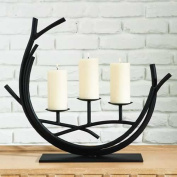 Global Views 60cm Long Twig Candelabra, Brown and Black Power Coat Finish
