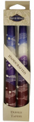 Majestic Giftware SC-SNT10-P Safed Taper Candle, 25cm , Snow Purple Drops, 2-Pack