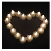 AGPtek® 100 Warm White Tea Light Candles Wedding Party Flameless Candle Light