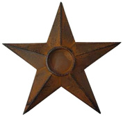 Craft Outlet Star Candle Holder, 8 by 20cm by 1.9cm , Rust, Set of 2
