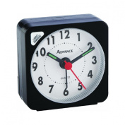 GENEVA/ADVANCE CLOCK 3076AT Quartz Cube Alarm Clock, Black