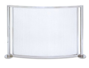 Pilgrim 18348 Home and Hearth Panorama Bowed Fireplace Screen, Polished Nickel