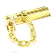 8.3cm INCH BRASS PLATED DOOR CHAIN LOCK WITH SCREWS