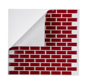 Tic Tac Tiles - High Quality Peel and Stick Tile in Brick Rosered