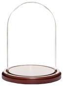 Plymor Brand Glass Doll Dome with Walnut Base - 14cm x 20cm