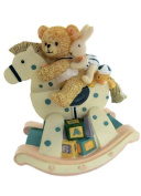 """MusicBox Kingdom 18501 Bear on The Rocking Chair Music Box, Moves to The Melody """"It's a Small World"""""""
