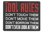 Young's Tool Rules Wood Wall Plaque, 22cm