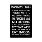 KegWorks Man Cave Rules Metal Sign