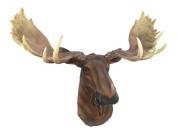 North American Moose Head Bust Wall Hanging