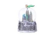 New York City Silver Apple Snow Globe 65mm