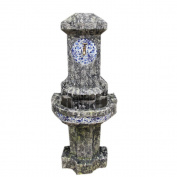 Welland Old World Tiled Water Fountain, 130cm High