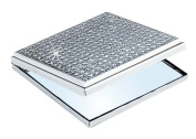 GLITTER GALORE SQUARE COMPACT, NICKEL PLATED. [Kitchen]