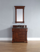 James Martin Brookfield 90cm Single Vanity with Drawers in Warm Cherry