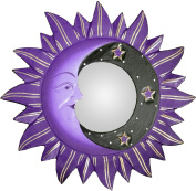Small Purple Sun, Moon & Star Mirror