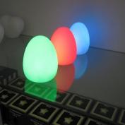 COFFLED®1pc Rainbow Colour Party LED Luminous Easter Egg Flash Night Lights Gift pascua Décor