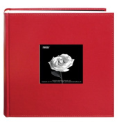 Pioneer Photo Albums 200-Pocket Sewn Leatherette Frame Cover Photo Album, 10cm by 15cm , Red