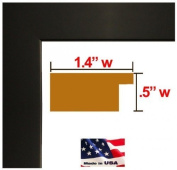 24x 32 Custom Made to Order Wrapped Black Picture Poster Frame Solid Wood 3.2cm Wide Moulding