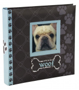 Malden International Designs Woof Album 1-Up Picture Frame, 10cm by 15cm , Blue, Holds 80 Photos