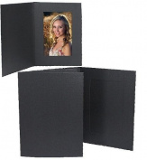 Black Cardboard Event Photomount Folder frame w/plain border sold in 25s - 4x6