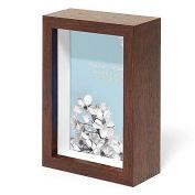 Swing Design Chroma Shadow Box Frame, 10cm by 15cm , Walnut