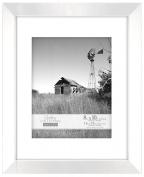 Malden International Designs Berkeley Bevelled Edge Wood Picture Frame, 20cm by 25cm , White