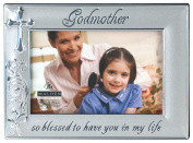 Malden International Designs Godmother with Cross Picture Frame, 10cm by 15cm , Silver