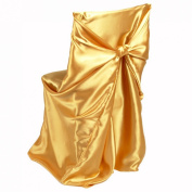 LinenTablecloth Satin Universal Chair Cover Gold