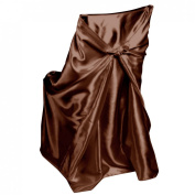 LinenTablecloth Satin Universal Chair Cover Chocolate