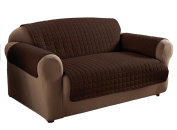 Innovative Textile Microfiber Loveseat Furniture Protector, Chocolate