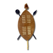 "Wall decoration ""Zulu-shield"", 55 cm, brown"